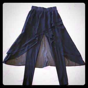 Chiffon skirt + leggings combo